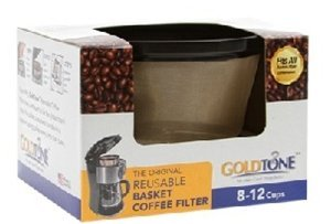 GOLDTONE Reusable 8-12 Cup Basket Coffee Filter fits Mr. Coffee Makers and Brewers, BPA Free by GoldTone (Image #2)
