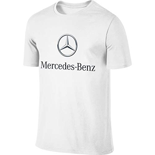 LinGing Man Customized Cool Tops Mercedes Benz Logo Tshirts White