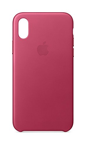 Apple Leather Case (for iPhone X) - Pink Fuchsia