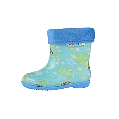 Toddler Little Kids Boy Girls Rain Booties Keep Warm Comfortable Star Printed Shoes Rain Boots by Lowprofile from Lowprofile