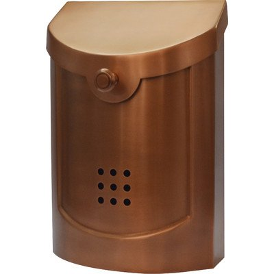 Ecco E5 Wall Mounted Mailbox Copper Plated Small