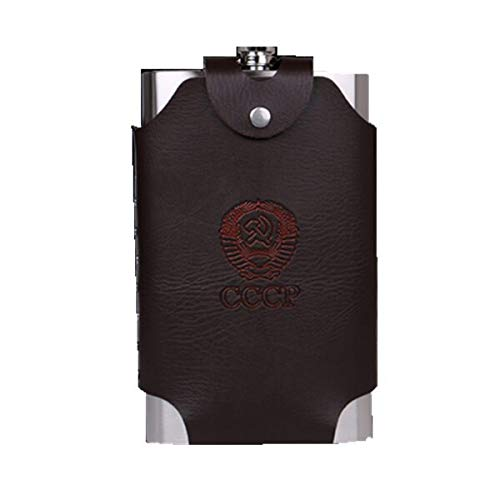 Cancer LLC - 18/48/64oz bpa free oversize whisky Imprint flagon cccp Portable creative Stainless steel alcohol hip flask SET with bag