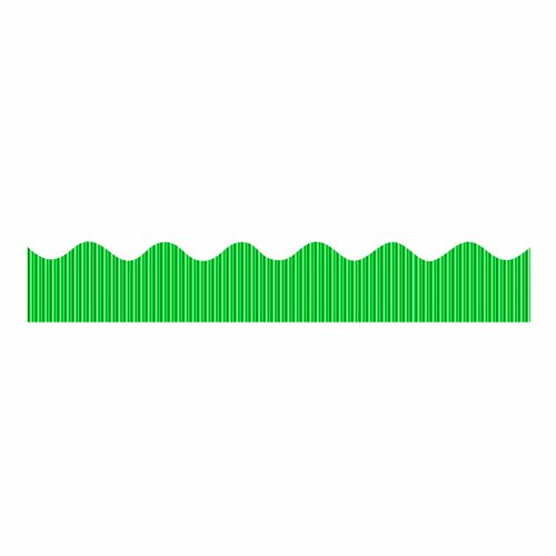 Bordette Metallic Corrugated Border Roll, 2-1/4 Inches x 25 Feet, Green