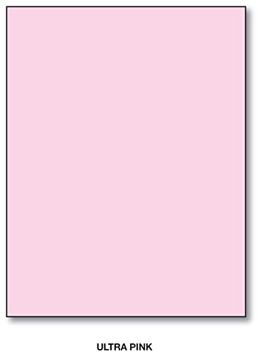 Textured Brights Cardstock Stack - Bright Color Card Stock Paper, 65lb. 8.5 X 11 Inches - 50 Sheets - Pink