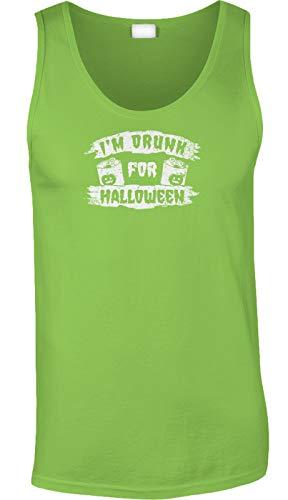 Blittzen Mens Tank Im Drunk for Halloween -