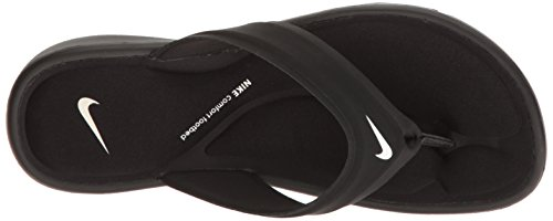 Sandals NIKE Comfort Womens Ultra Black Black Thong Synthetic White fC1Bq