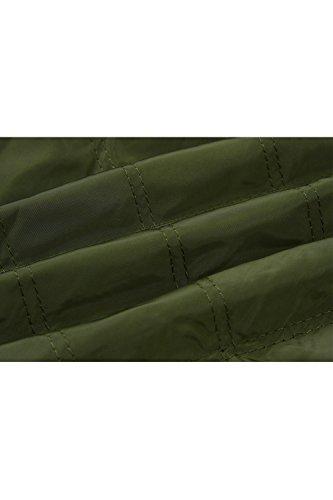 Cotone Donne Le Green Moda Giacche Outwear Casual Cappotto Chiudi Alla Autunno Solido TIgqxgHwB