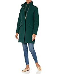Women's Cocoon Coat in Italian Stadium-cloth Wool