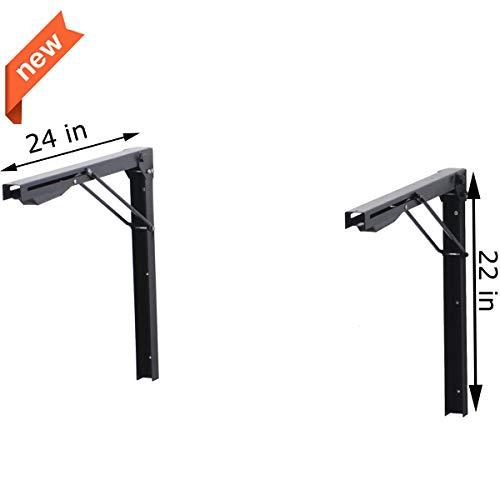 Ultrawall Shelf Brackets, Heavy Duty Adjustable Folding Shelf Workbench Supports,24 inch Foldable Bracket