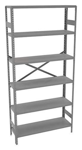 (Tennsco ESP-6-1236 Commercial Shelving Unit, 6 Shelves/5 Openings, 250 lb. Capacity per Shelf, 36