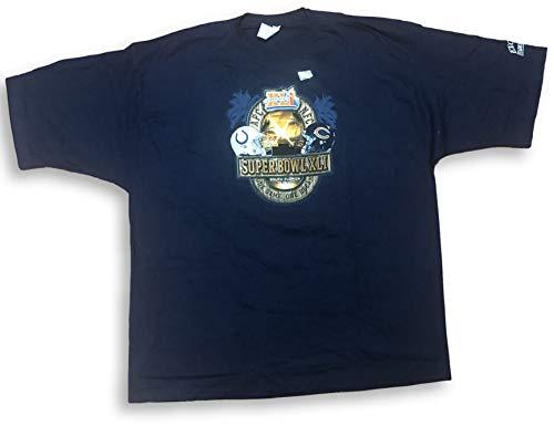 Reebok Super Bowl XLI Indianapolis Colts Vs Chicago Bears Match Up Adult Men's T-Shirt (4X)