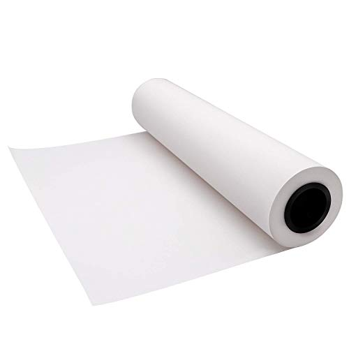 YRYM HT White Butcher Kraft Paper Roll - 18 inch x 175 Feet (2100 inch) - Food Grade FDA Approved - Great Smoking White Wrapping Paper for Meat of All ()