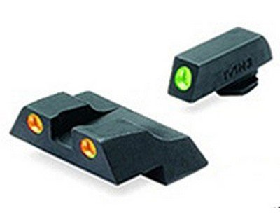 Meprolight Glock Tru-Dot Night Sight for G26 & G27. Orange rear/Green front. Fixed set by Meprolight