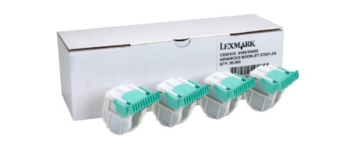 Lexmark Advanced Booklet Staples, 5000 Staples/Ctg, EA=Box of 4 Ctgs (21Z0357) by Lexmark
