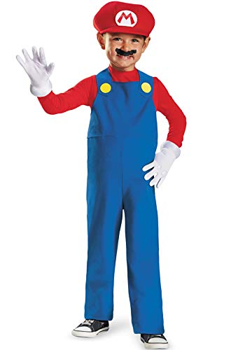 Nintendo Super Mario Brothers Mario Boys Toddler Costume, Small/2T ()
