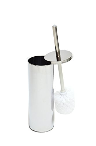 BATHKLIN Toilet Brush and Holder. Made by Stainless Steel. Modern Stainless Steel Brush with Holder