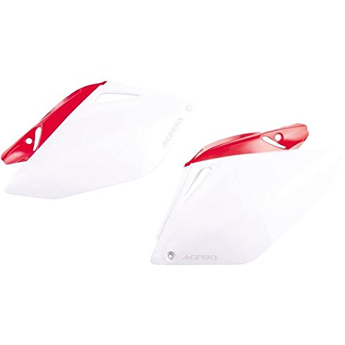 Acerbis Side Panels - White/Red , Color: White 2043240215