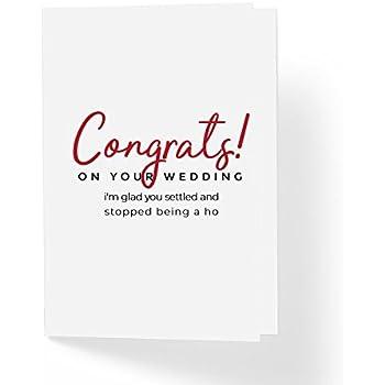 Amazon Com Funny Congrats Modern Wedding Card Congratulations