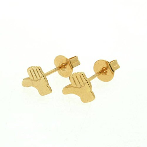 Unique gift Gold Studs Delicate Gold Jewelry Gold Studs Facebook Like Earrings Minimalist Everyday Earrings Thumb Up Earrings