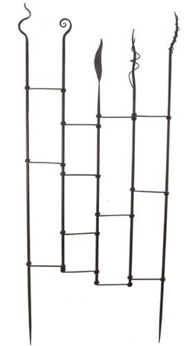 Modernes Rankgitter 2-er Set Metall braun B 85 cm Kletterhilfe Spalier