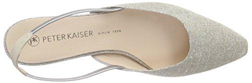 Peter Kaiser Castra Damen Pumps Slingback Beige (foulard Sabbia Shimmer 921)