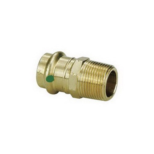 Low Lead Bronze Adapter, Press x MPT Connection Type, 1/2'' x 1/2'' Tube Size by VIEGA PROPRESS