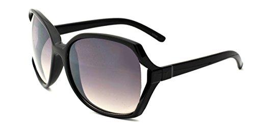Dollhouse Women's Square Sunglasses, Opaque Black Frame, APG Smoke Lens, - Sunglasses Dollhouse