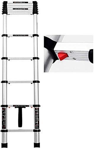 AFDK Erru Engineering/Loft Escaleras telescópicas de extensión - Escalera recta de aluminio de 4.1M / 4.9M de altura con sistema de retracción de un botón, soporte 150Kg,3,2 m / 10.5ft: Amazon.es: Bricolaje