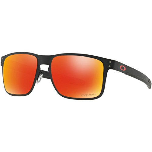 Oakley Men's Metal Man Square Sunglasses, Matte Black, 55 - Prescription Holbrook Lenses