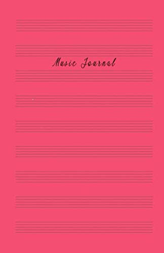 Music Journal: Music Manuscript Paper, Staff Paper, Musicians Notebook (Music Composition Books) 5.06 x 7.81 inches, 100 pages Red Soft Cover