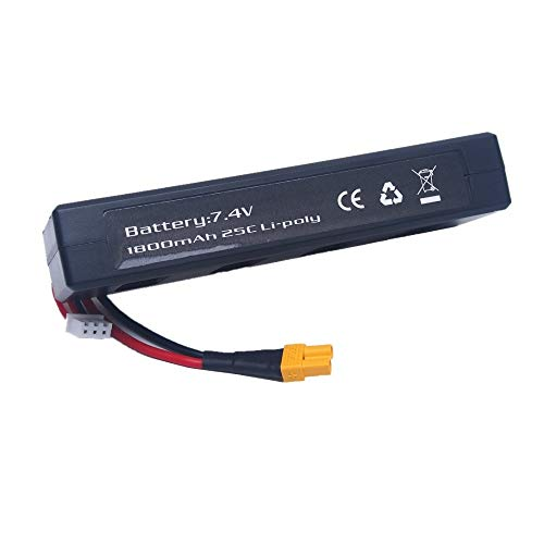 - Yoton Accessories 1PC 7.4v 1800mah 25C Li-Poly Battery for RC B3 Bugs 3 Force1 F100 Contixo F17 RC Quadcopter Drone Spare Parts RC Parts