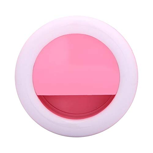 Togethluer Rechargeable USB Clip-On Ring Fill Light,Selfie Universal Mobile Phone LED Pink by Togethluer (Image #1)