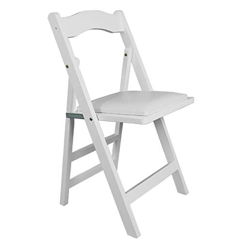 Tmzd Wooden Folding Chair Portable Folding Chair Dining Chair Office Chair Computer Chair Indoor Outdoor Banquet Folding Chair White
