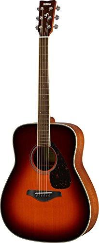Yamaha FG820 Solid Top Acoustic Guitar, Brown Sunburst - Martin Sunburst Guitar