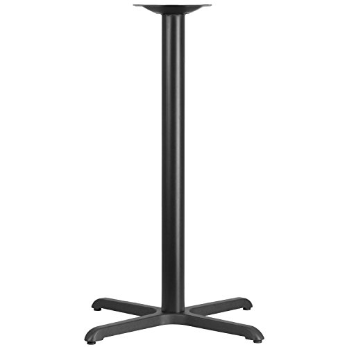 Iron Bar Table Base - Flash Furniture 30'' x 30'' Restaurant Table X-Base with 3'' Dia. Bar Height Column
