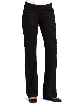 Dickies Women's  Relaxed Cargo Pant Rinsed Black 12 Short