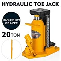 "VOLTZ tools 20 Ton Hydraulic Toe Jack Machine Lift Cylinder Equipment Proprietary Tools Home Improvement Garage Industrial Work Heavy Duty Steel Lifting Up Holder Welded Steel 13.7""12.5"" 9.8"""
