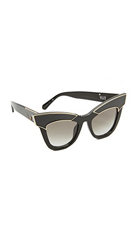 Valley Eyewear Women's Depotism Sunglasses, Gloss Black/Black, One - Valley Eyewear Sunglasses