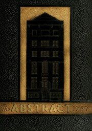 (Reprint) Yearbook: 1937 John Marshall Law School Abstract Yearbook Chicago IL