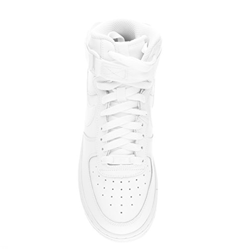 Nike Boy's Air Force 1 Basktetball Shoes (GS) White/White/White 5.5Y
