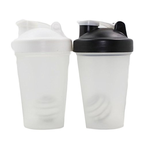 Style Protein (BG-Style Pp Water Bottle Travel To-Go Drinkware Mix Shake Bottle Classic Shaker Bottle Protein Powder Shake Cup Black 600ml)