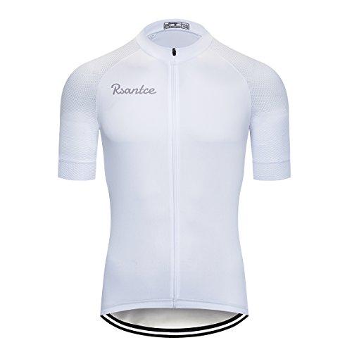 Rsantce Pro Team 2018 MTB Men Summer Short Sleeve Bike Cycling Jersey Clothes Bicycle Triathlon Shirt Wear Clothing (S, -