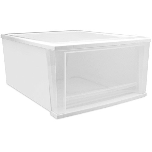 IRIS Stacking Drawer Large White