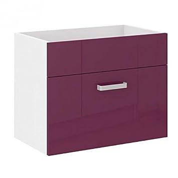 Simple jodpur meuble sous vasque aubergine with meuble for Amazon lavabos
