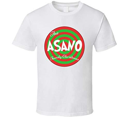 - The Asano Family Christmas Last Name T Shirt M White
