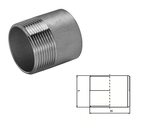 Stainless Steel Welding Nipple (A2 / T304) 3 Inch BSP Pack Size : 1