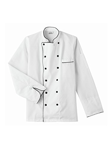 Five Star Chef Apparel 18120 Executive Chef Coat with Black Trim White XL ()
