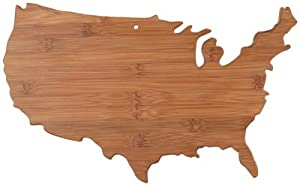 Totally Bamboo State Cutting & Serving Board, Alabama, 100% Bamboo Board for Cooking and Entertaining