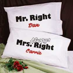 Mr Right Mrs Always Right Bed Sheets