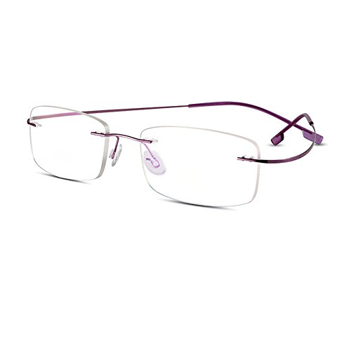 Bertha Titanium Alloy Flexible Lightweight Rimless Frame Prescription Eyeglasses 105 - Size Dimensions Frame Eyeglass